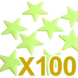 100X Plastic Glow in the Dark Stars Baby Room Nursery Toys & Games