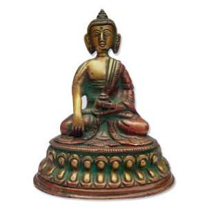 Religious God Buddha In Meditation Pose Handmade Brass