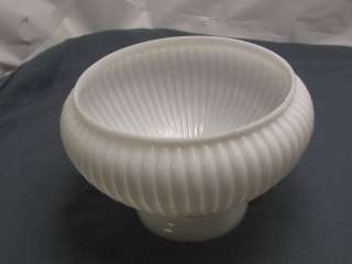 Milk White Glass Ribbed Shade Vintage/ Antique