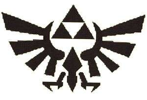 LEGEND of ZELDA TRIFORCE LOGO CROSS STITCH PATTERN