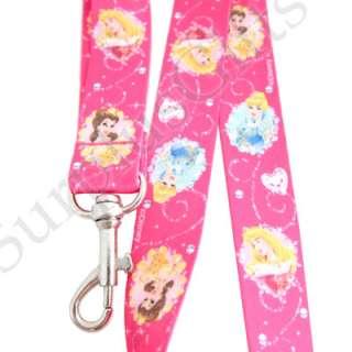 Disney Princess Belle Cinderella Aurora Pink Lanyard
