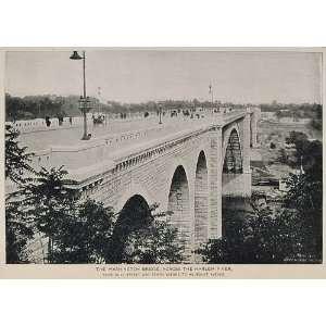 1893 Print Washington Bridge Harlem River New York City