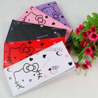 New Cute HelloKitty Bowknot Girls Wallet Clutch Card Bag Purse
