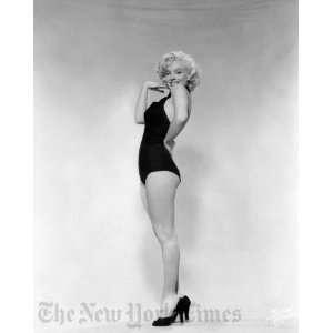 Marilyn Monroe, Black Bathing Suit   Circa 1953