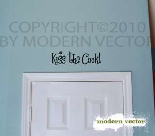 KISS THE COOK Kitchen Vinyl Wall Quote Decal