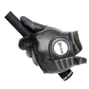 Star Premium Cabretta Golf Gloves   LH Large Black/Tour Yellow Sports