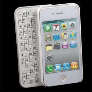 Bluetooth Keyboard Hardshell Case for Iphone 4 WHITE WIRELESS 4G New