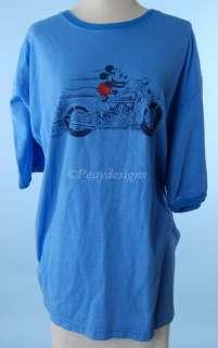 Disney Mickey Mouse CHOPPER Motorcycle Tshirt Sz 2XL