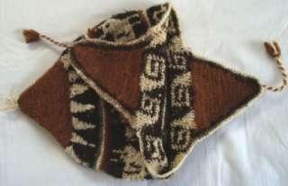 AZTEC DESIGN EAR WARMER HAT/CAP SMALL 9  3 NATURAL COLORS NEW COMFY
