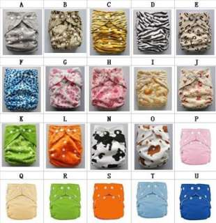 5PC REUSABLE BABY CLOTH DIAPER 5 INSERTS + 1 SIZE