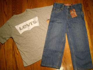 LEVIS TODDLERS/BABY/KIDS BOYS NEW 2Pc JEANS SET 7T, NWT