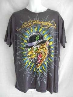 Christian Audigier ED HARDY Mens Topcat T Shirt L