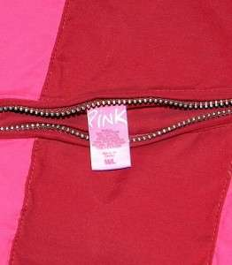 Womens Victorias Secret Pink REVERSIBLE Puffer Vest Medium Jacket Down