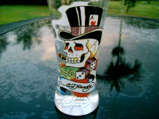 DON ED HARDY SKULL IN TOP HAT  SHOOTER SHOT GLASS