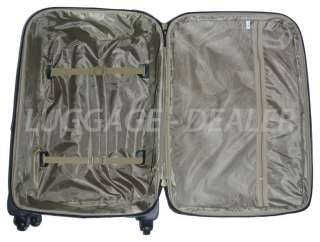 20 Carry On 4 Wheel Spinner Rolling Luggage Case GRAY