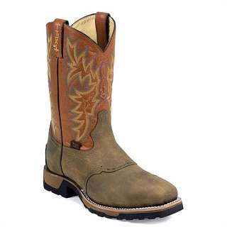 TONY LAMA MEN SIZE 12 D EH STEEL TOE NEW WESTERN BOOTS WT1052 ANTIQUE