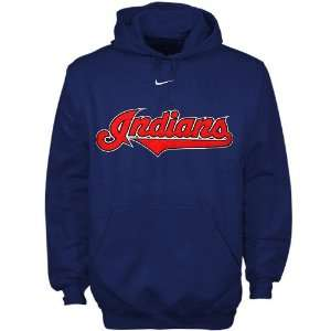 Nike Cleveland Indians Navy Blue Youth Tackle Twill Hoody
