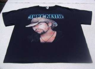 TOBY KEITH North American tour LARGE concert T SHIRT