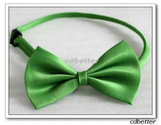 Wedding Party Kids Boys Girls Solid Colors Pre Tied Satin Bowties Bow