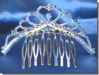 Wedding Tiara Comb Flower Girl Swarovski Crystal 48104