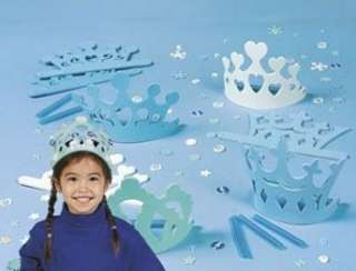 Winter Princess Tiara Crown Foam Craft Kit Snowflake