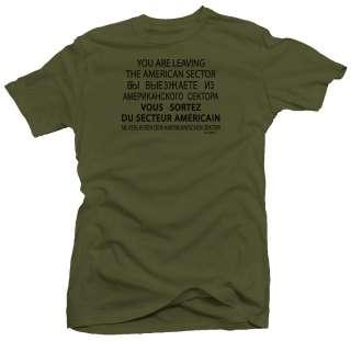 Checkpoint Charlie WW2 USA Military Army T shirt