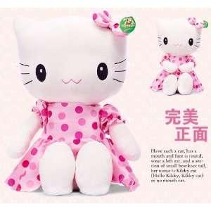 Hello kitty face bowknot stuffed plush doll big large +a wall sticker
