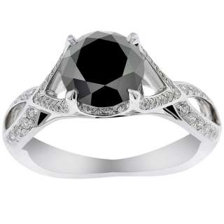 Diamond Engagement Ring Vintage Style 18K White Gold DD BDR 064