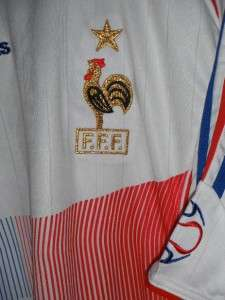 THIERRY HENRY VTG ADIDAS FFF FRANCE FOOTBALL PLAYER ISSUE JERSEY SHIRT