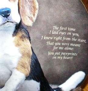 Danbury Mint Eyes of Love Dog Pawprints Plate