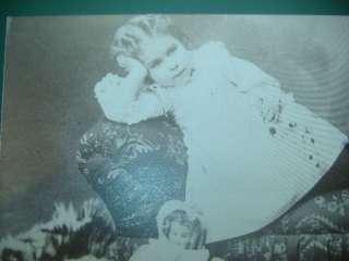 Bru Smiling Face Doll Child BearSkin Rug Repro Postcard
