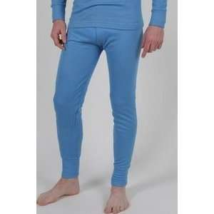 Mens Thermal Underwear Long Johns Large Blue:  Sports