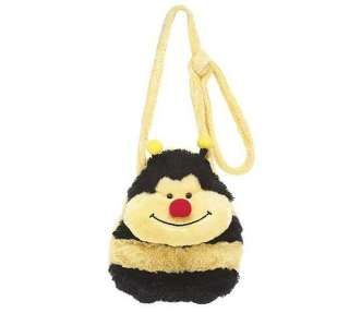 Bumble Bee Plush Stuffed Animal Shaped Purse Toy Tote Bag Carry Along