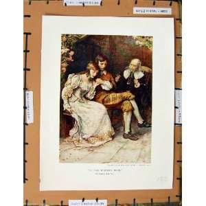C1950 Nursery Rhyme Man Lady Romance Smoking Pipe