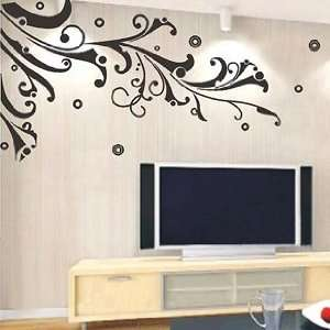 Black Vine Hanging   Loft 520 Home Decor Vinyl Mural Art Wall Paper