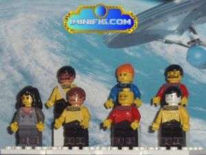 Custom LEGO minifig Star Trek The Next Generation Crew
