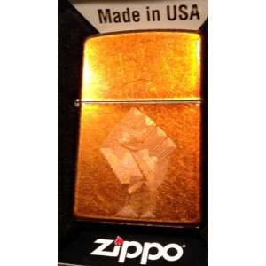 Zippo Custom Lighter   Power to the People Revolution Fist Logo Toffee