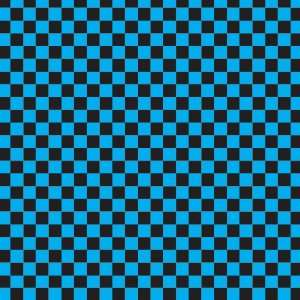 CHECKERED PATTERN Blue and Black Vinyl Decal Sheets 12x12
