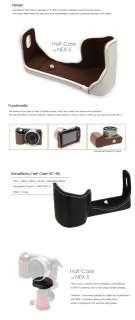 NEW HorusBennu Leather Camera Half Case Bag HC N5 (White) for SONY NEX
