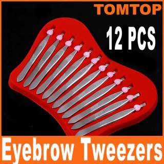High quality Stainless Steel Slanted Eyebrow Tweezers Hair Removal
