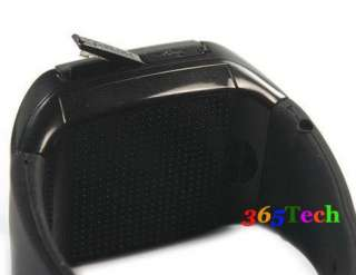 Quad Band touch screen Wrist Watch Mobile Cell Phone  Black GSM NEW