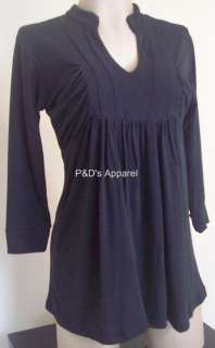 New Womens Maternity Clothes S M L XL Black Shirt Top Blouse