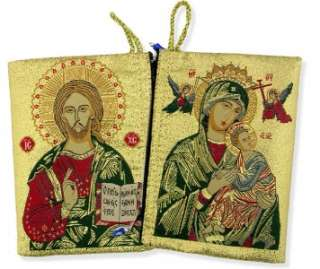 Holy Virgin Mary Perpetual Christ Rosary Pouch Holder