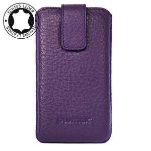 Original Blumax ® Purple Leather Case for Nokia E72 with