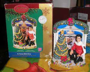 CARLTON CARDS AT HOME WITH ELVIS CHRISTMAS ORNAMENT