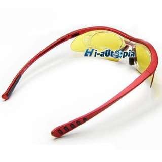 New Red Bike Bicycle Sports Riding Sun Glasses Goggles & 5 Lens