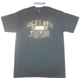 G143 Golds Gym T Shirt Training logo   Bodybuilding Shirt