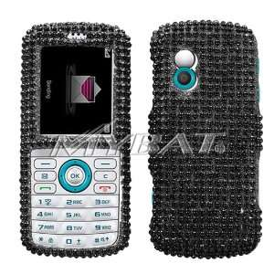 SAMSUNG GRAVITY T459 BLACK SOLID FULL DIAMOND CRYSTAL CASE