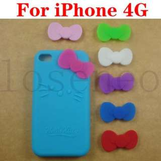 Hello Kitty Silicone Soft Skin Case iPhone 4 4G SkyBlue