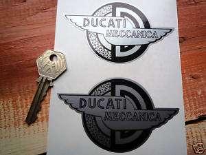 DUCATI Motorcycle classic 2 winged helmet/bike stickers